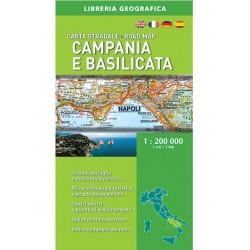 Carta Stradale Campania e Basilicata