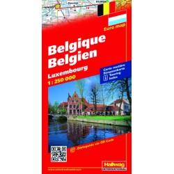 Belgio e Lussemburgo-Belgique, Luxembourg-Belgien, Luxembourg 1:250.000