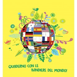 Quaderno con le Bandiere del Mondo
