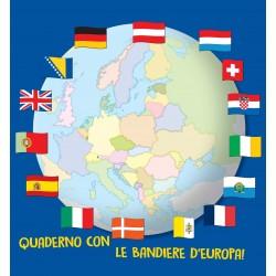 Quaderno con le Bandiere d'Europa