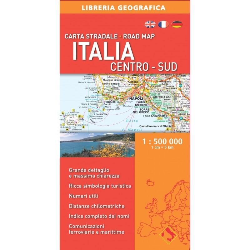 Carta Stradale Italia Centro - Sud