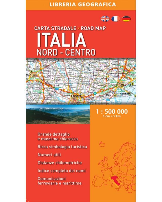 Cartina Geografica Centro Nord Italia.Carta Stradale Dell Italia Del Nord Libreria Geografica