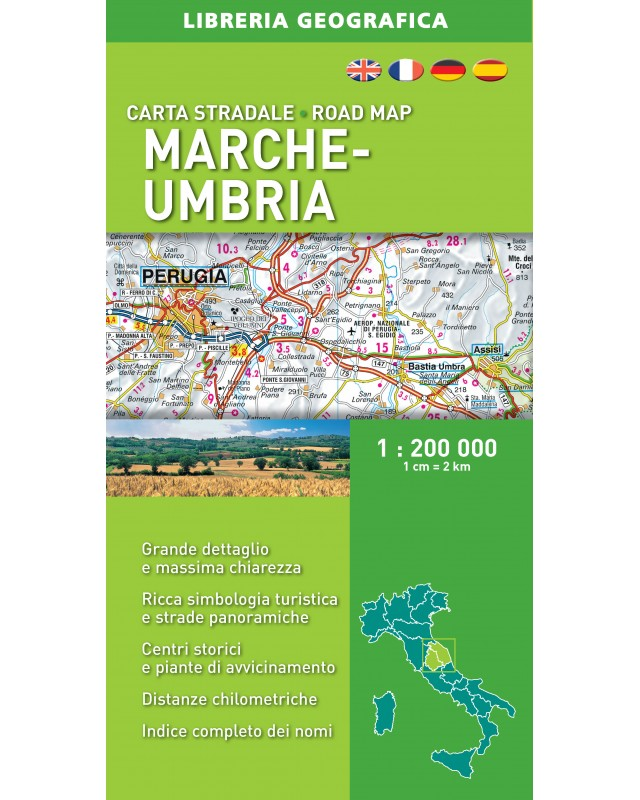 Cartina Stradale Umbria Marche.Carta Stradale Di Marche E Umbria Libreria Geografica