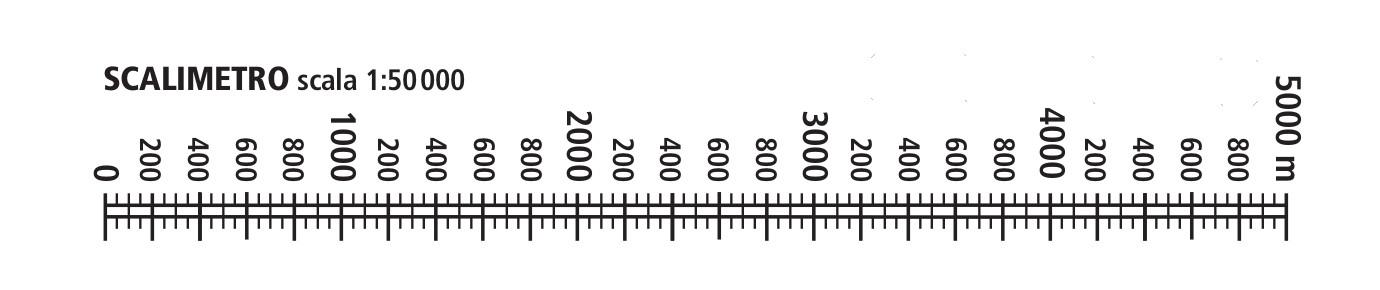 Scalimetro scala 1:50000